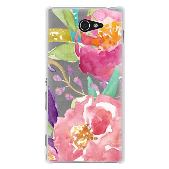 Sony M2 Cases - Watercolor Floral Transparent