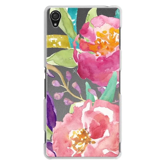 Sony Z3 Cases - Watercolor Floral Transparent