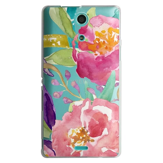 Sony Zr Cases - Watercolor Floral Transparent