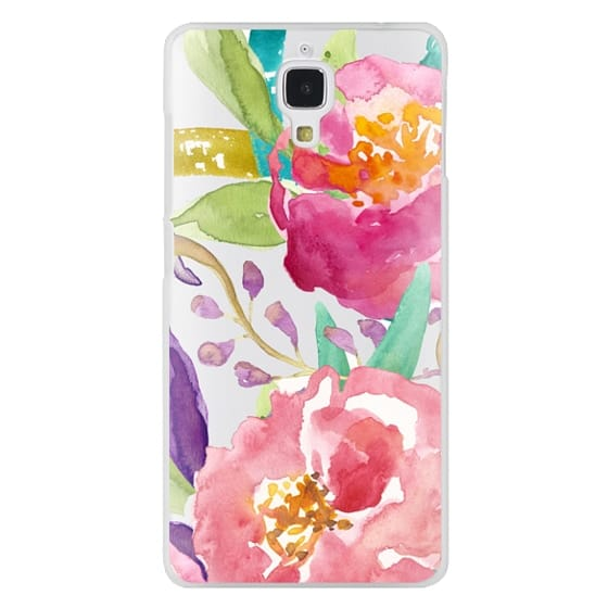 Xiaomi 4 Cases - Watercolor Floral Transparent