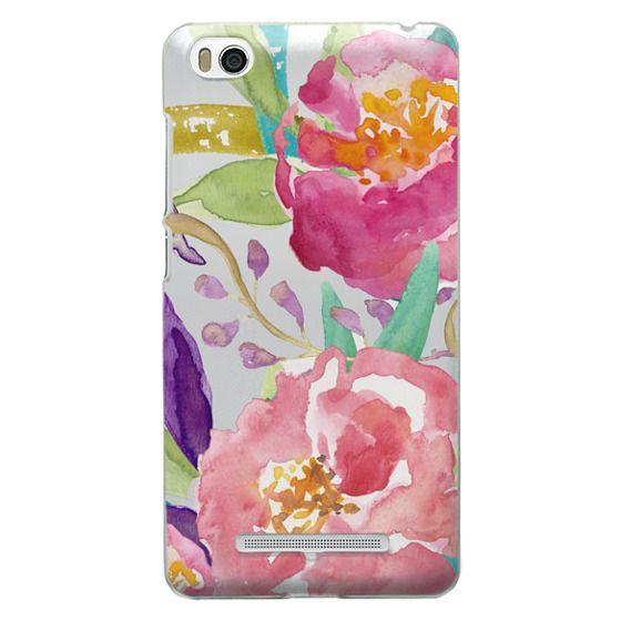Xiaomi 4i Cases - Watercolor Floral Transparent