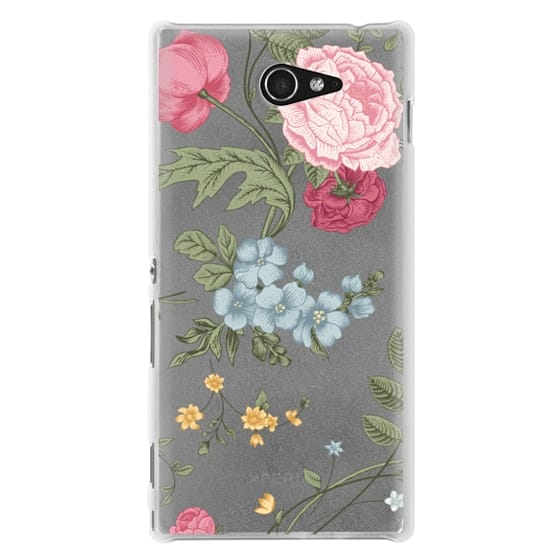 Sony M2 Cases - Vintage Floral