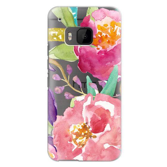 Htc One M9 Cases - Watercolor Floral Transparent