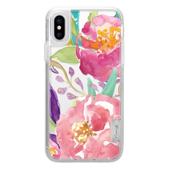 iPhone X Cases - Watercolor Floral Transparent