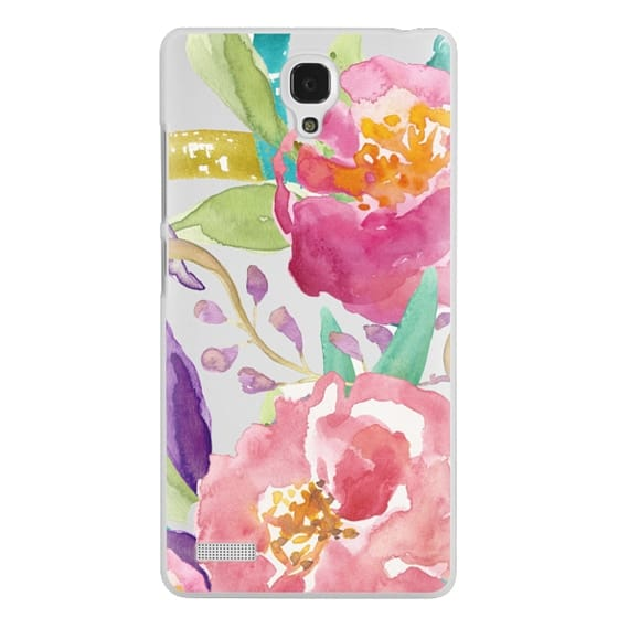 Redmi Note Cases - Watercolor Floral Transparent