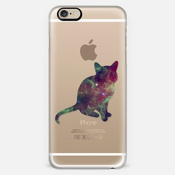 Galaxy Cat - on shine through transparent  -