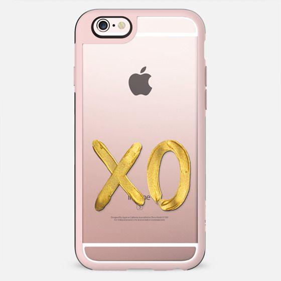 Gold XO - on shine through transparent