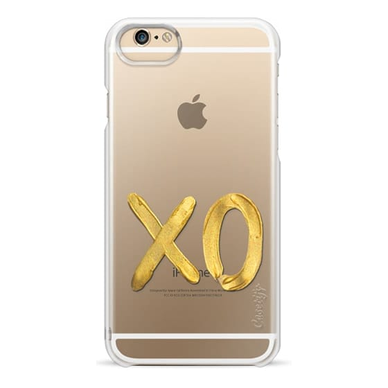 iPhone 6s Cases - Gold XO - on shine through transparent