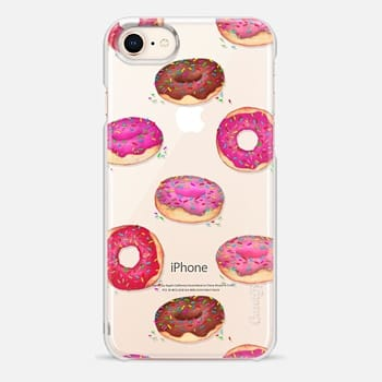 iPhone 8 Case Delicious Donuts - on shine through transparent