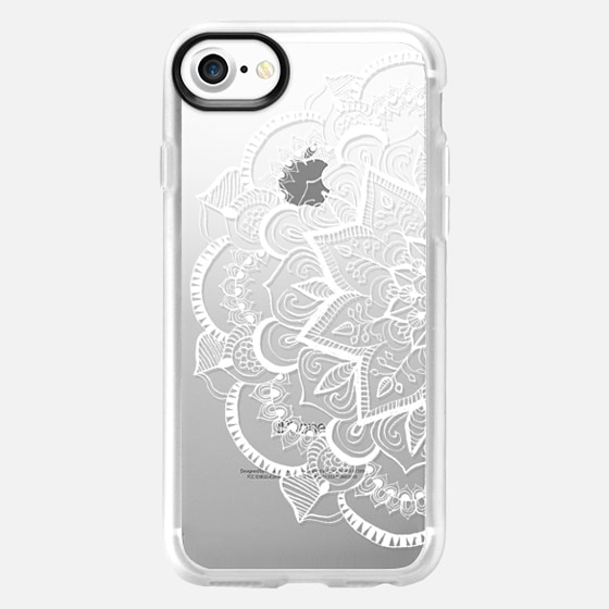 White Feather Mandala on Clear - Wallet Case