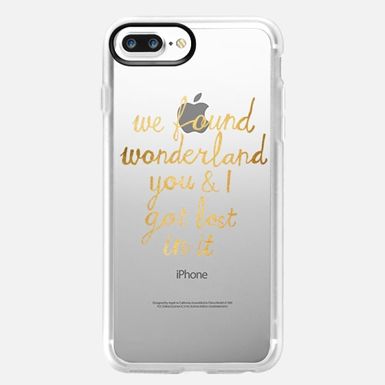 Wonderland - Taylor Swift Quote in Gold -