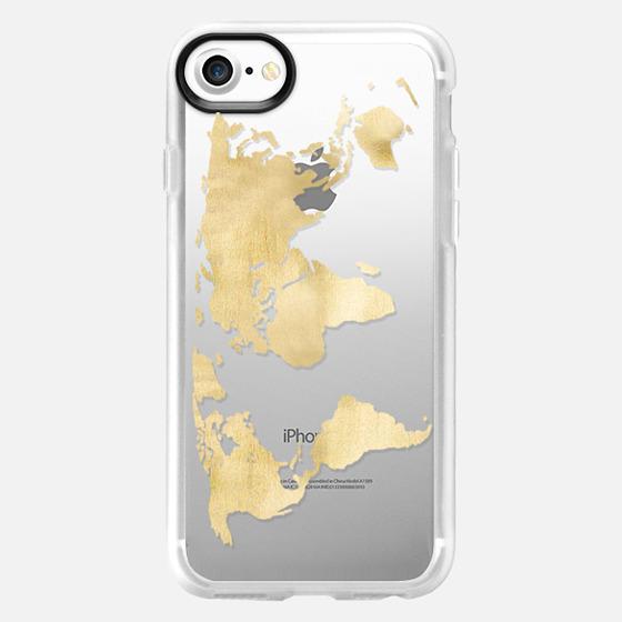 Gold World Map -