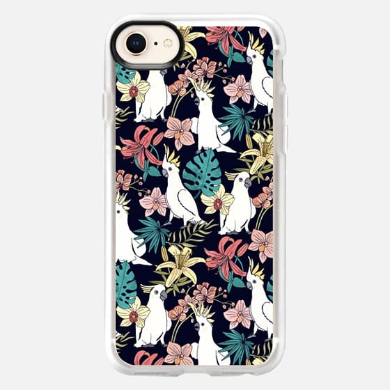 Cockatoo & Tropical Flora - Snap Case