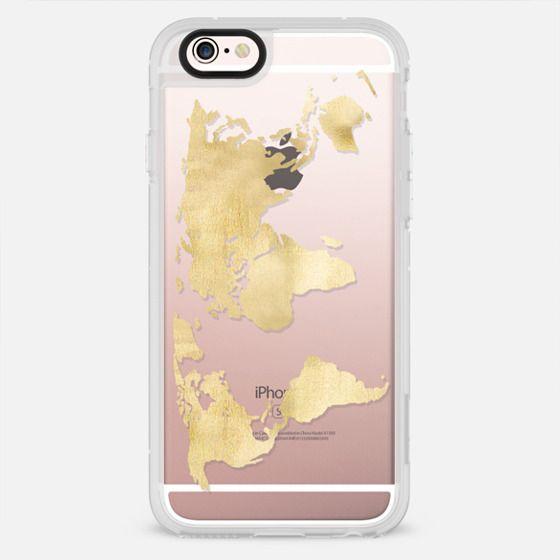 Gold World Map - New Standard Case