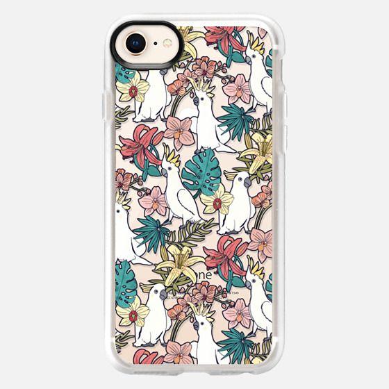 Cockatoos & Tropical Flora - Snap Case
