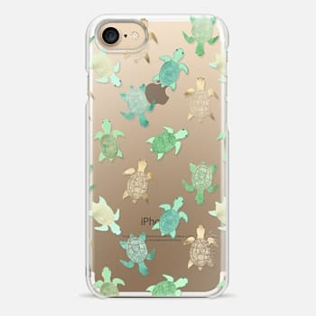 iPhone 7 Case Turtles on Clear II