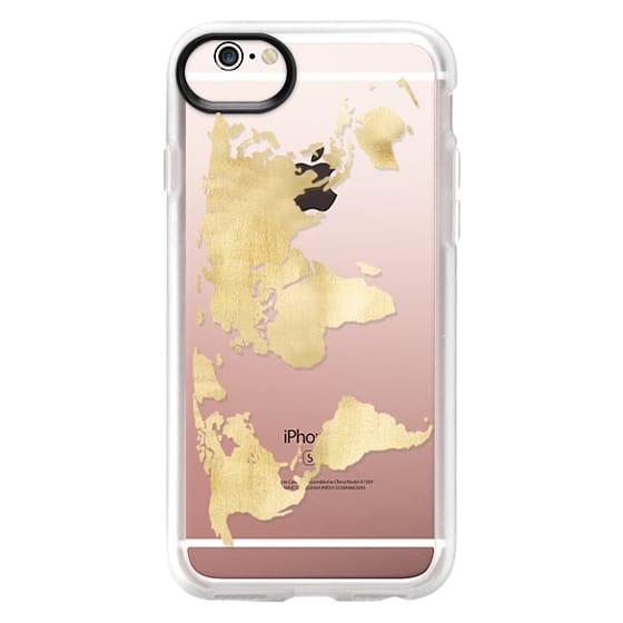 World Map Iphone 6s Case.Gold World Map Casetify