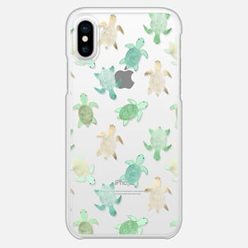 iPhone X Case Turtles on Clear II