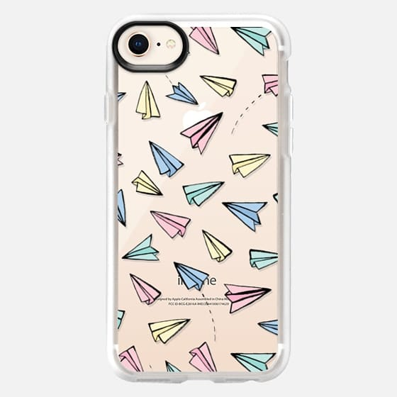 Paper Planes in Pastel on Clear - Snap Case