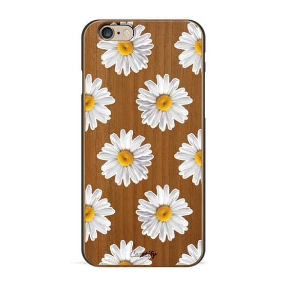 iPhone 6s Cases - Daisies on Wood