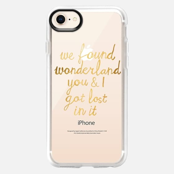 Wonderland - Taylor Swift Quote in Gold - Snap Case