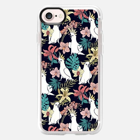 Cockatoo & Tropical Flora - Classic Grip Case