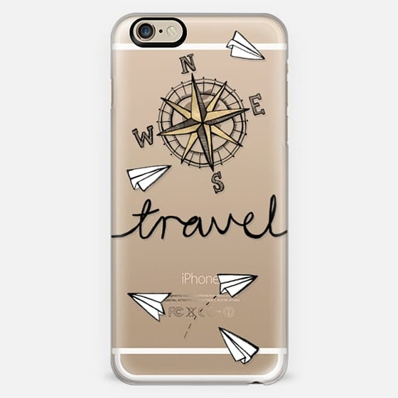 Travel + Compass + Paper Planes on Clear -
