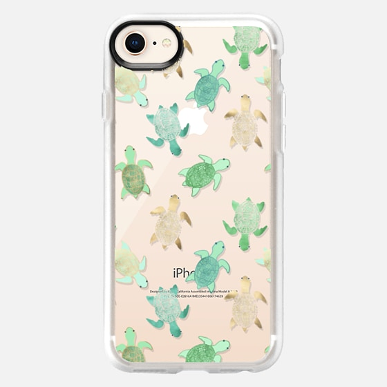 iPhone 8 Case - Turtles on Clear II