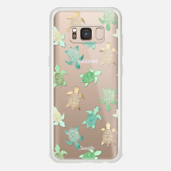 Galaxy S8 Case - Turtles on Clear II