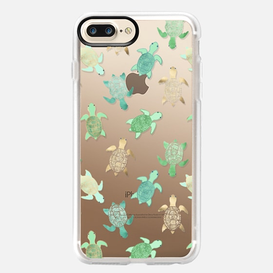 Iphone  Plus Clear Floral Case