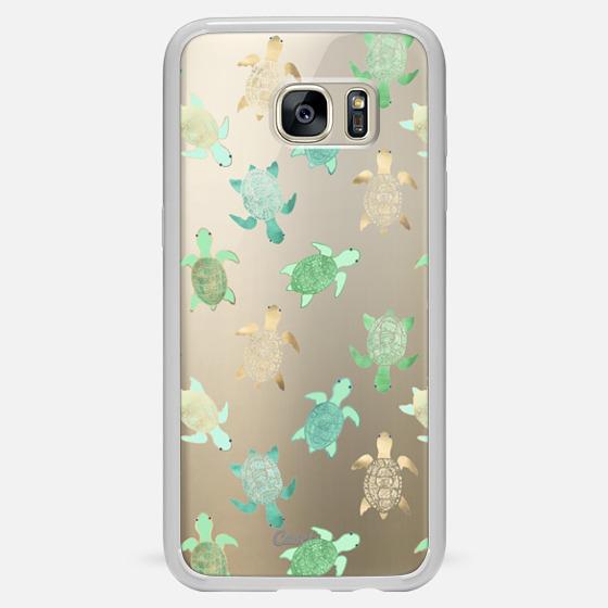 Galaxy S7 Edge Case - Turtles on Clear II