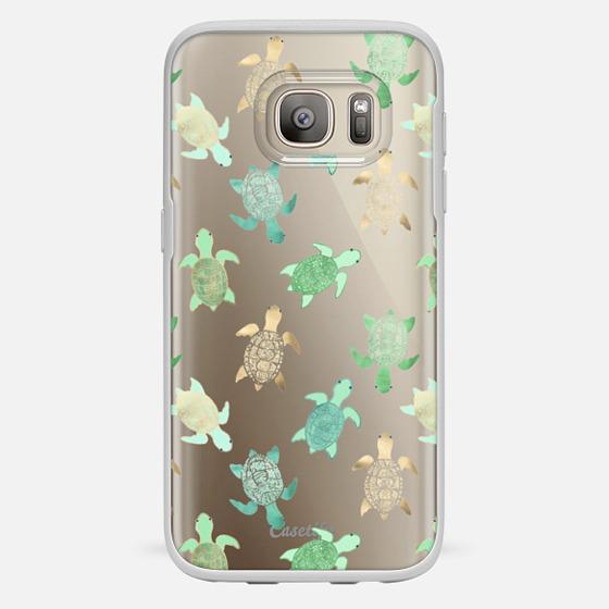 Galaxy S7 Case - Turtles on Clear II