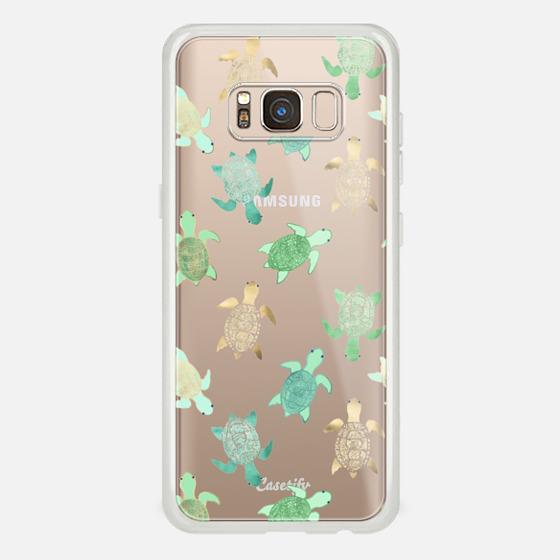 Galaxy S8 Case - Turtles on Clear II