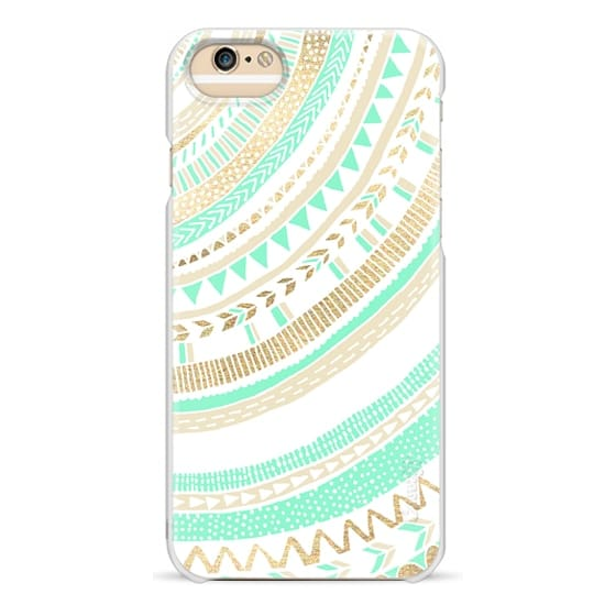 iPhone 6s Cases - Mint + Gold Tribal