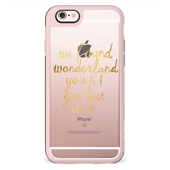 Wonderland - Taylor Swift Quote in Gold