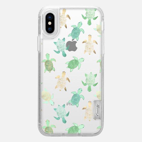iPhone X Capa - Turtles on Clear II