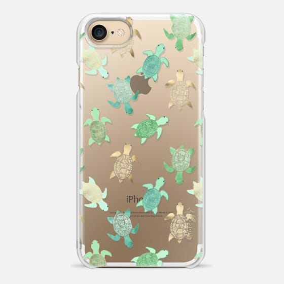 iPhone 7 Case - Turtles on Clear II