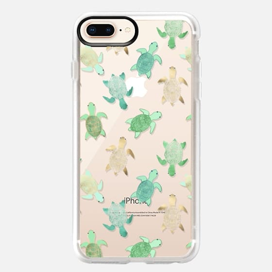 iPhone 8 Plus Case - Turtles on Clear II