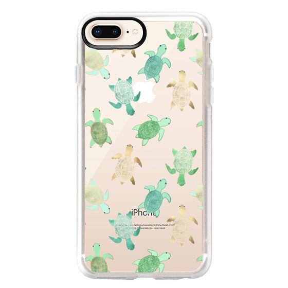 iPhone 8 Plus Hülle - Turtles on Clear II