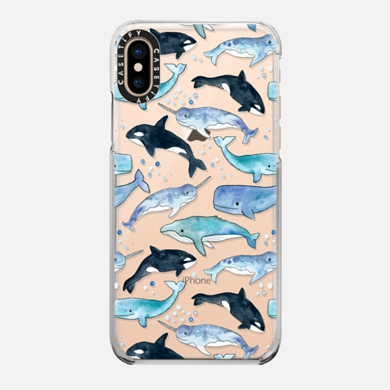 iPhone 7 Plus/7/6 Plus/6/5/5s/5c Case - Whales, Orcas & Narwhals