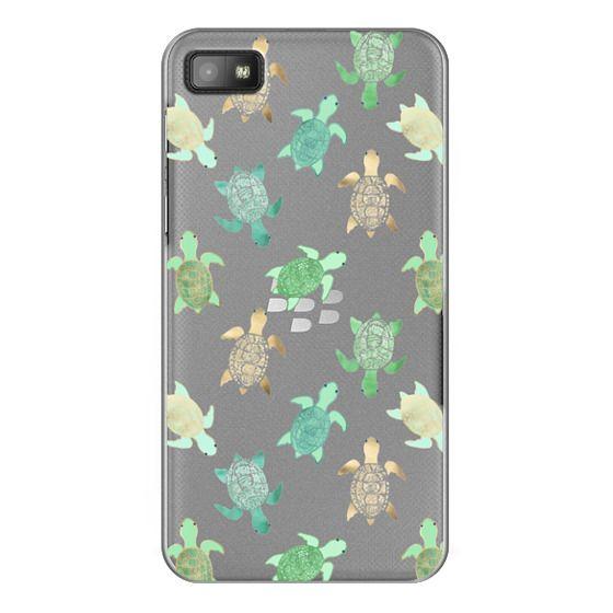 Blackberry Z10 Cases - Turtles on Clear II