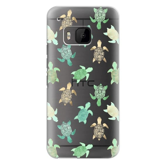 Htc One M9 Cases - Turtles on Clear II