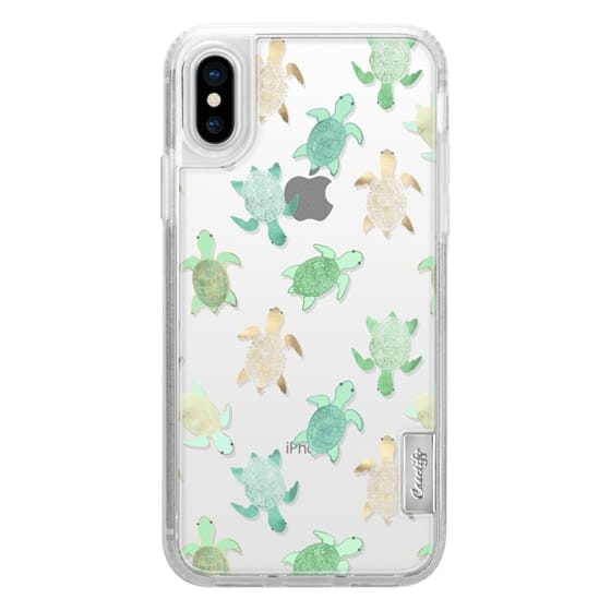 iPhone X Cases - Turtles on Clear II