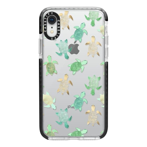 iPhone XR Cases - Turtles on Clear II