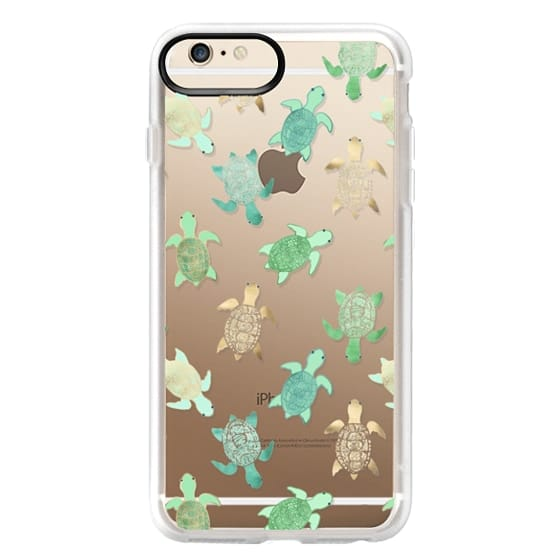 iPhone 6 Plus Cases - Turtles on Clear II