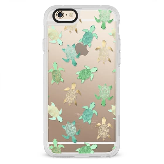 iPhone 4 Cases - Turtles on Clear II