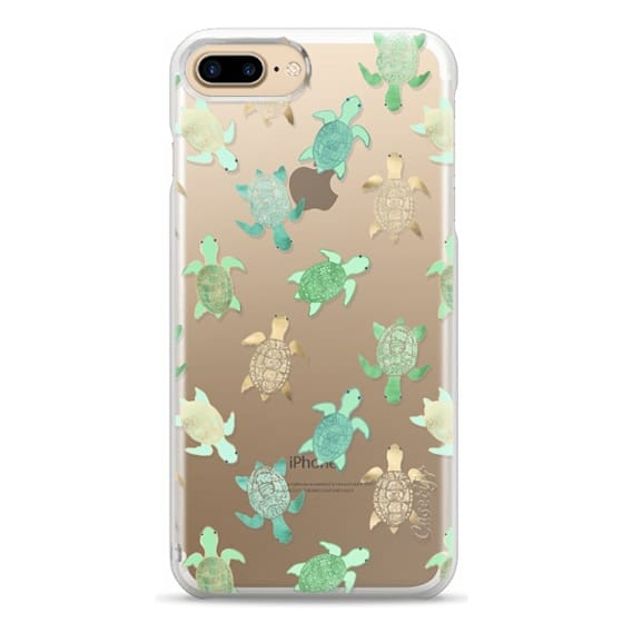 iPhone 7 Plus Cases - Turtles on Clear II