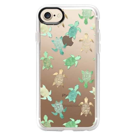iPhone 7 Cases - Turtles on Clear II
