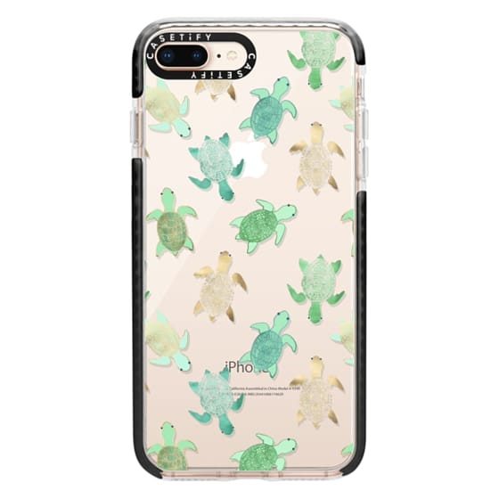 iPhone 8 Plus Cases - Turtles on Clear II