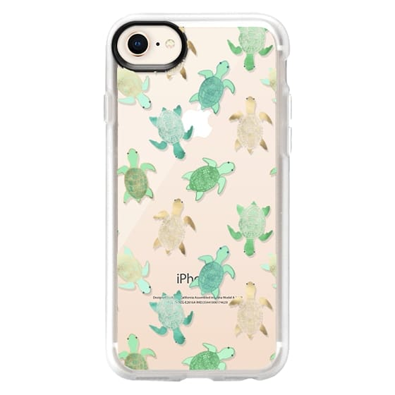 iPhone 8 Cases - Turtles on Clear II
